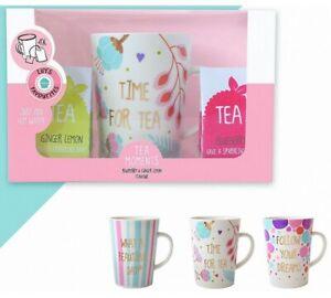 1 Coffret Tea Time Grande Tasse The 4 Sachets The Parfume 12 X 9 Cm Vaisselle