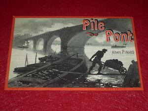 Chaix A.pinard/batterie Brücken 1886 Learned Jules Cheret/lithografie Originell Druck