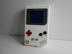 Nintendo GameBoy Classic + Backlight + Bivert + Custom Case Mod Ghostbusters