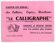 Buvard publicitaire cahier Le Calligraphe