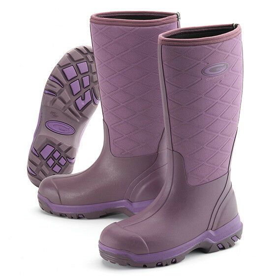 Grubs Iceline 8.5 Neoprene Wellington bottes in Heather Taille 7-40