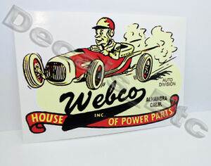 Webco-Speed-Shop-Vintage-Style-Vinyl-DECAL-Car-STICKER-rat-rod-hot-rod-racing