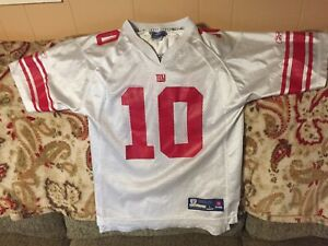 big sale c13b5 49784 Details about Youth Reebok NFL New York Giants White/Red Eli Manning Jersey  - Large (14-16)