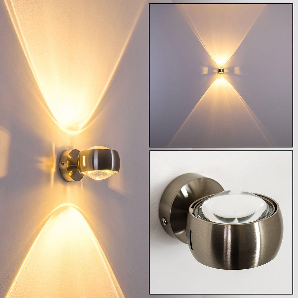 Design corridoio Lampada Salotto Stanza Stanza Stanza Lampada Nichel Lampada da parete cucina up and down a4cb2f