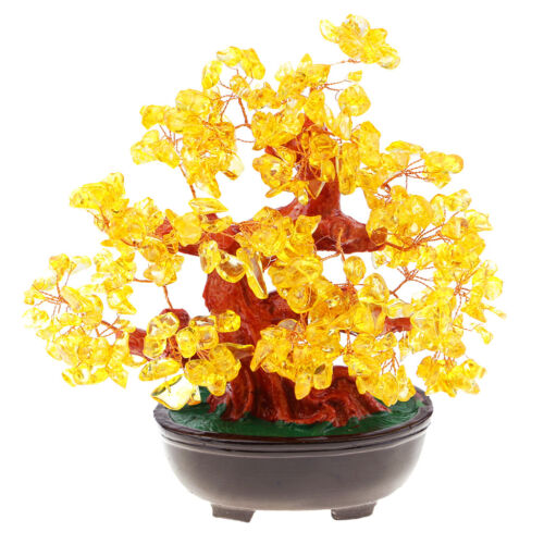 Good Luck Tree Crystal Gemstone Chinese Culture Feng Shui Decoration Tree