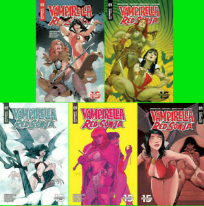 VAMPIRELLA-RED-SONJA-1-A-E-1-10-1-15-1-20-1-25-1-30-NM-or-Better
