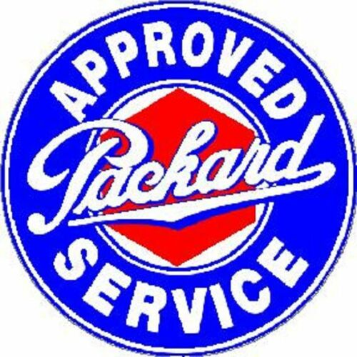 PACKARD APPROVED SERVICE VINYL STICKER A1855
