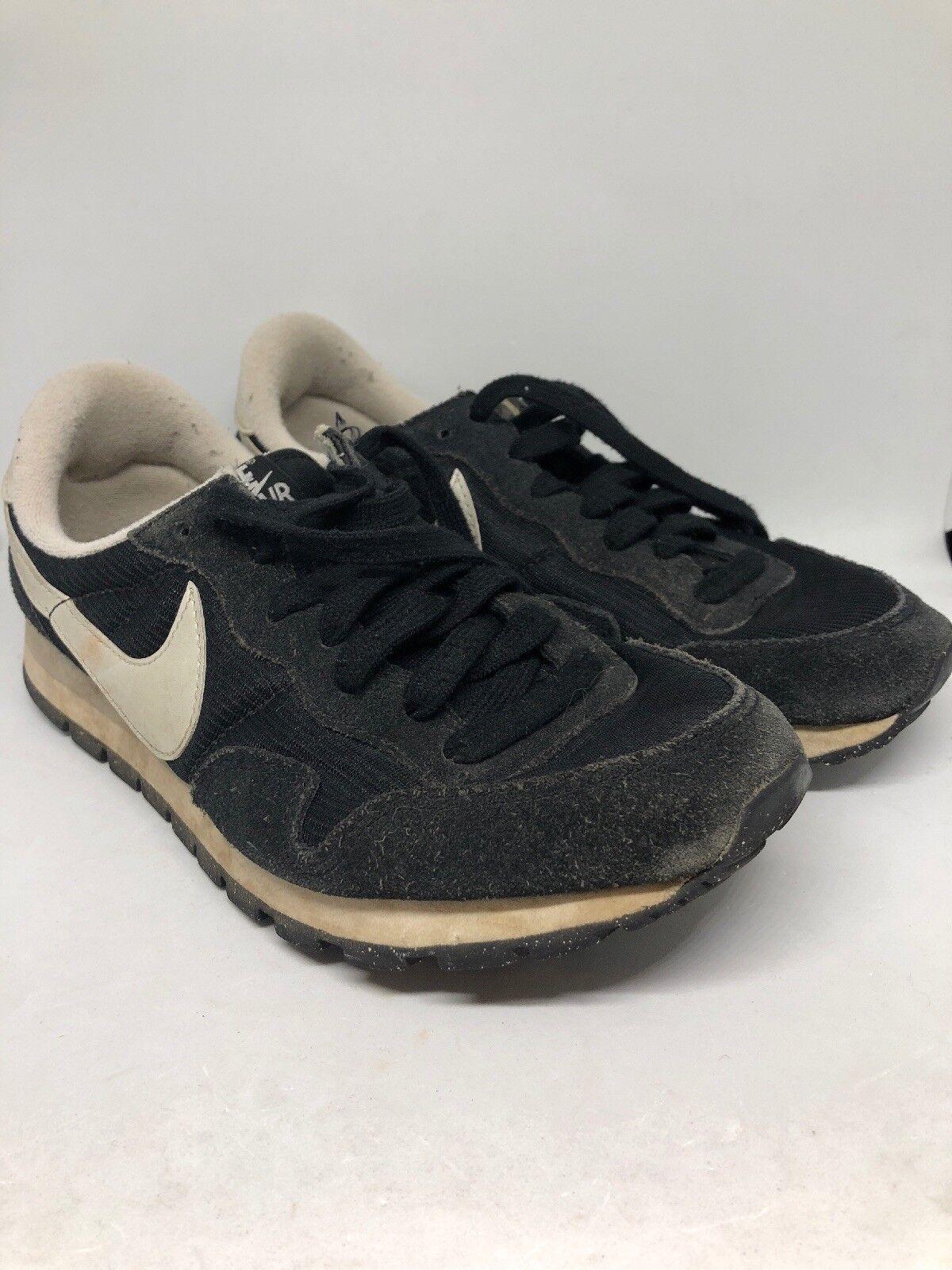 NIKE NIKE NIKE AIR PEGASUS '83 Women's Black Leather Suede Running shoes US 8 EUR39 UK 5.5 608b77