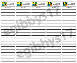 picture relating to Printable Geocaching Logs identify GeoCache Log Sheet - 2\