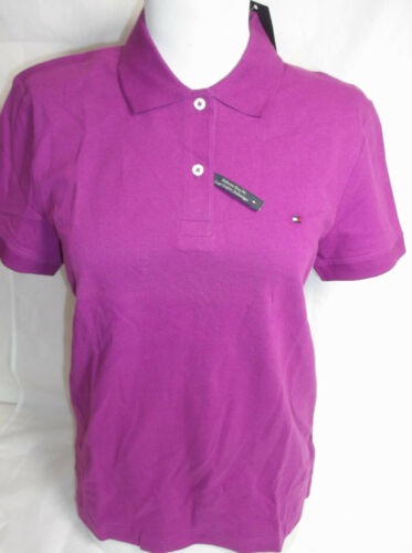 TOMMY HILFIGER WOMENS POLO SHIRT PURPLE TEE TOP  NEW NWT