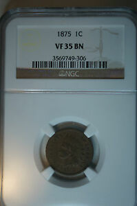 1875-VF-35-BN-NGC-INDIAN-HEAD-Penny-Nice-Coin