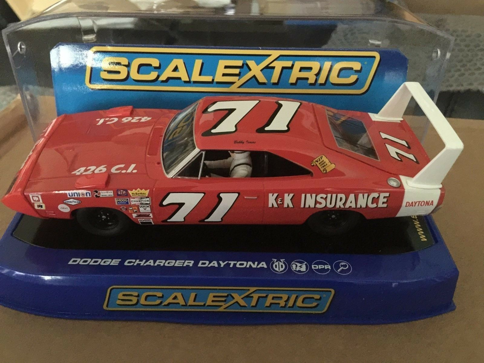 MINT BOXED SCALEXTRIC DODGE CHARGER DAYTONA C3423 USA BOXED VERSION