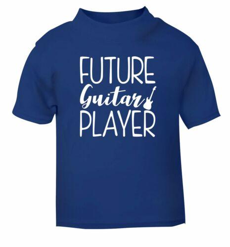 Futur Guitariste Bébé//Bambin T-shirt Bass Electric Acoustic Strum 3983