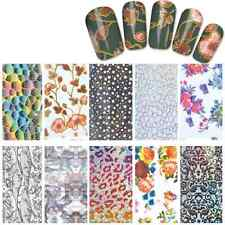 Nail Art Full Tips Foil Wraps Decals Stickers - Pack Of 10 Multi Designs (N21)