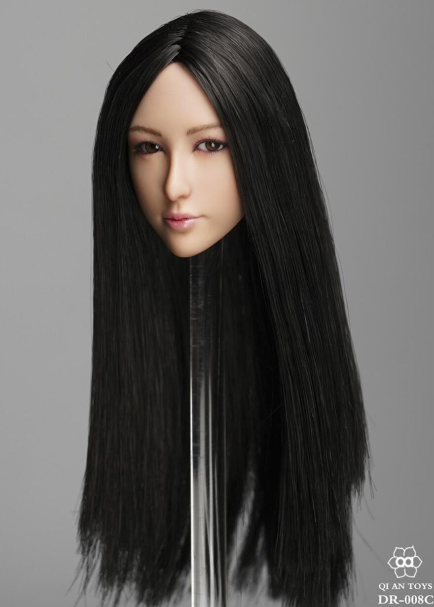 1 6 Female Female Female Head Sculpt C MOVABLE EYES For PHICEN Hot Toys 12  Figure ❶USA❶ 4d1cc9