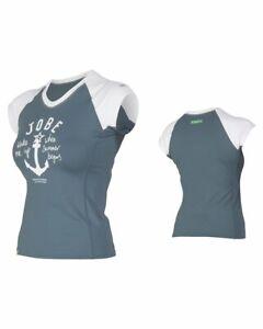 Jobe Damen Rash Guard CHROME V-Neck Lycra Rashguard Badeshirt Surfshirt UV Shirt