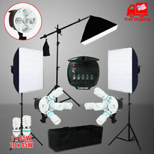 Photography Video Continuous Soft Box Lighting Softbox Boom Arm Light Stand Kit