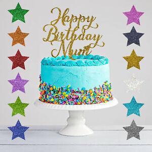 Custom Birthday Personalized Glitter Cowgirl Cake Topper