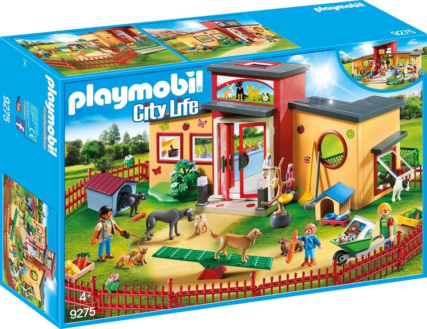 Playmobil City Life 9275 Hotel de mascotas con área de juegos - Nuovo and sealed