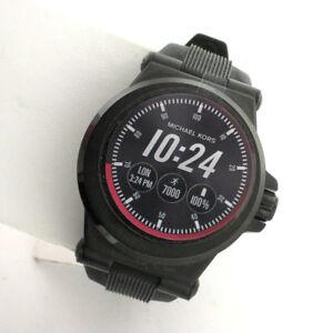 34b1c9b7da7a Image is loading Michael-Kors-Access-Touchscreen-Black-Dylan-Smartwatch -MKT5011-