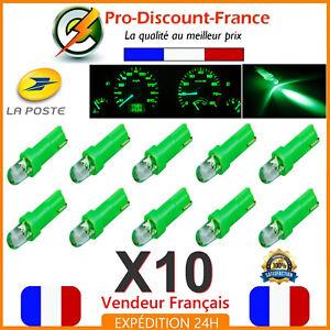 10-x-T5-LED-Voiture-Vert-Ampoule-Tableau-de-Bord-Compteur-Tuning-12V