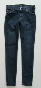 7-Seven-For-All-Mankind-Mid-Rise-Skinny-Stretch-Jean-Dark-Wash-Size-27