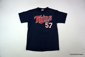 Johan-Santana-57-Minnesota-Twins-MLB-Baseball-Navy-Blue-T-Shirt-Sz-Men-039-s-Medium
