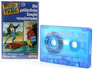 TKKG-130-Die-gefaehrliche-Zeugin-verschwindet-Hoerspiel-MC-blau-Kassette