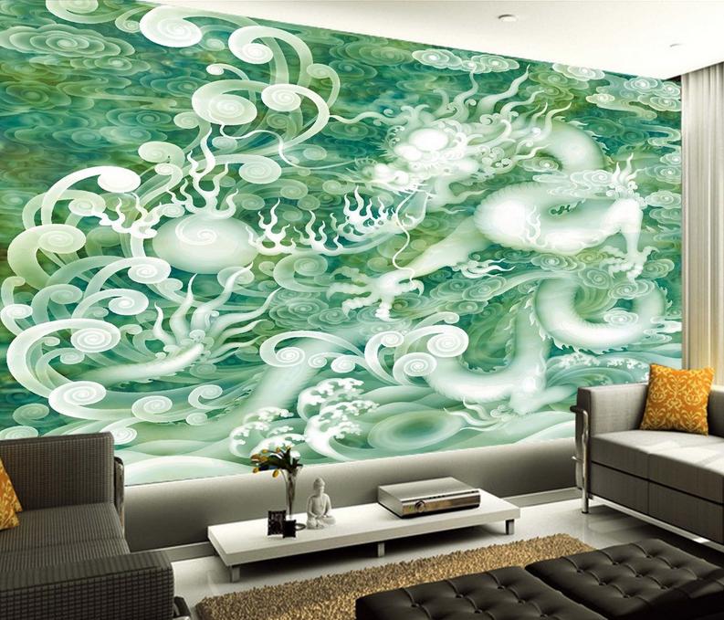 3D Wolken Drache 8643 Tapete Wandgemälde Tapete Tapeten Bild Familie DE Summer
