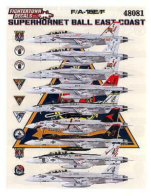 Fightertown Decals 1/48 F/A-18E/F HORNET SUPER HORNET BALL EAST COAST