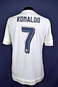 c8d46e2fb 5+ 5 Cristiano Ronaldo Real Madrid jersey camiseta 15 16 Home adidas ...
