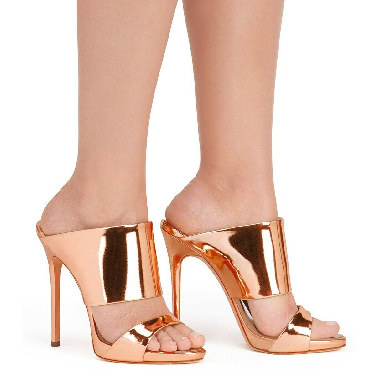 Wouomo Very High Heel Stiletto Open Toes Slip On Slingback Casual scarpe Evening