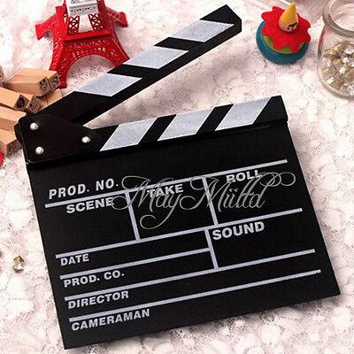Director Video Scene Clapperboard TV Movie Clapper Board Film Slate Cut Prop Q