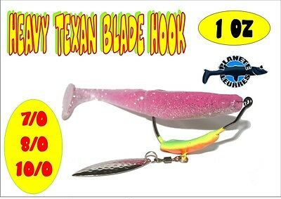 Montage Heavy Texan Blade Hook pêche leurre souple 30gr pêche brochet sandre bar