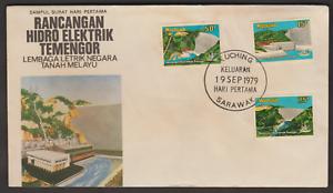 (F85)MALAYSIA 1979 TEMENGOR HYDRO ELECTRIC STATION FDC KUCHING SARAWAK FDI