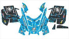 POLARIS RUSH PRO RMK ASSAULT 120 144 155 163 hood wrap kit DECAL splatter blue 7