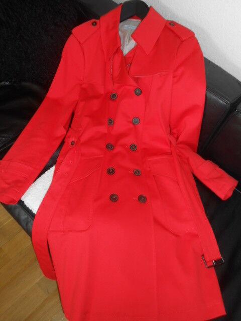 Designer Trenchcoat, Trenchcoat Strenesse Gr. 42, Strenesse Mantel rot neuwertig
