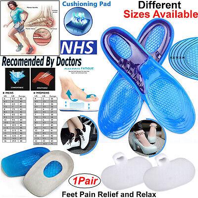 1 Pair  Unisex Memory Foam Custom massage Shoe Insoles Trainer Foot Care