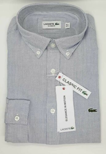 Lacoste Mens Oxford Shirt White Size M//L BNWT  Regular Fit 100/% Authentic RRP£95