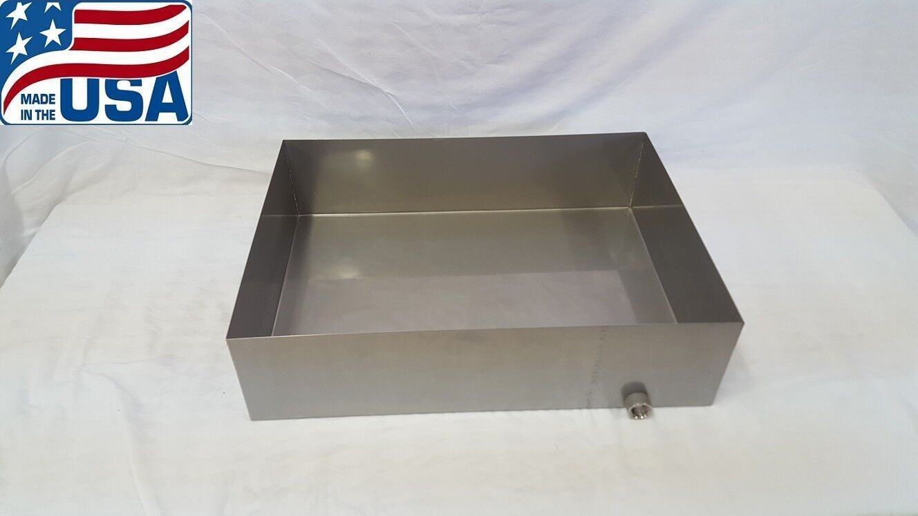 Maple Syrup Boiling Pan 16x30x6 Stainless Steel Sap evaporator tig 18 ga **USA**