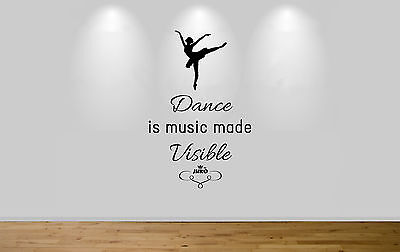 Juko Ballet Wall Sticker Quote To Touch To Move Decal Dance Wall Art