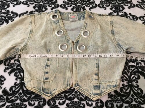 80's Jacket Jean International Vintage Trends Iit Acid Image Washed Denim 8qqz0