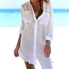 b61839dd93 item 1 Womens Swimsuit Bikini Cover Up Robe Tunic Shirt V-Neck Summer Soli  Beach Dress -Womens Swimsuit Bikini Cover Up Robe Tunic Shirt V-Neck Summer  Soli ...