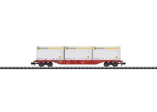 fabrikneu Minitrix 15518 Containertragwagen DB mit 3 Inno freight Containern