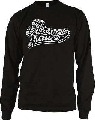 Awesome Sauce Script Distressed Excellent Sweet Cool Two Tone Hoodie Sweatshirt