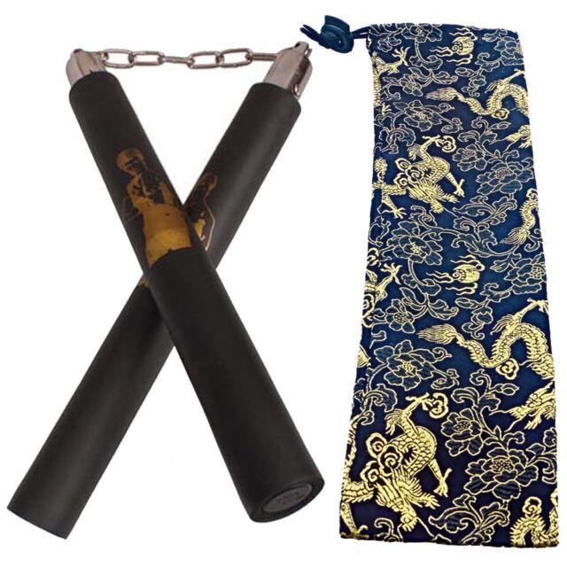 "10"" Bruce Lee Martial Arts Kung Fu Foam Nunchucks Nunchakus Training Practice"