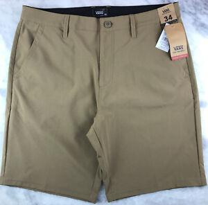 Details about VANS Authentic Decks, Mens Size 34 Reg, Tan / Khaki, 4-Way Stretch | VN0A3HBTDZ9