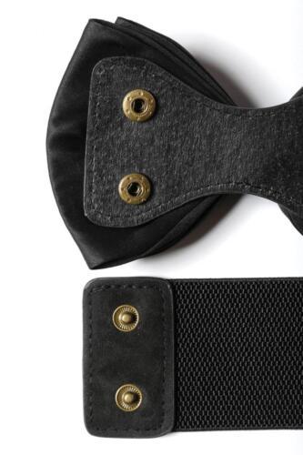 VINTAGE Retrò Stretch Cintura Loop Cintura in vita cintura fiocco satin