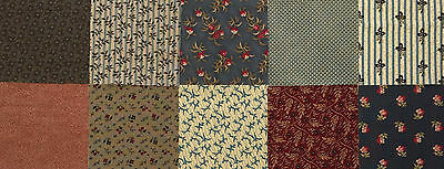 1800s Reproduction Fabric Charm Pack 5 inch Squares Sew Quilting 40 Pieces 16736