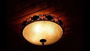 Deckenlampe Jugendstil Plafoniere : Jugendstil plafoniere deckenlampe kaiser aus messing kristallglas